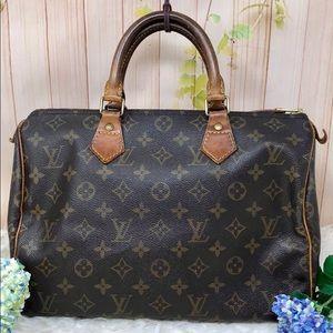 Authentic Louis Vuitton Monogram Speedy 30
